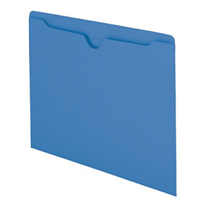 File Jacket Reinforced Straight cut Tab Flatno Expansion Letter Size Blue 100box