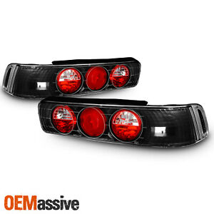Fits 90 93 Acura Integra 2dr Coupe Rs Gsr Jdm Black Tail Brake Lights Lamps Pair