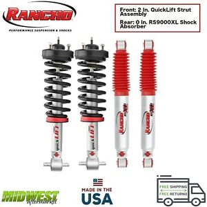 Rancho Quicklift Struts W Rs9000 Shock Absorbers Set For 05 19 Nissan Frontier