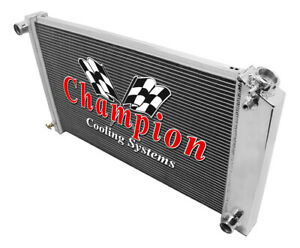 3 Row Wr Radiator 17 X28 Core For 1967 1977 Pontiac Grand Prix Manual Trans