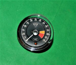 Vintage Mg Mga Jaeger Cable Drive Tachometer 7k Rn2300 01 W ignition Light
