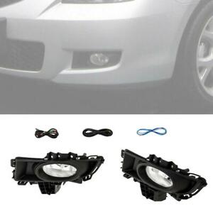 For 2007 2008 09 Mazda 3 4dr Sedan Bumper Fog Lights Bulbs Wiring Switch Kit