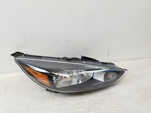 2015 2016 2017 2018 Ford Focus Halogen Rh Passenger Black Headlight W Led Oem