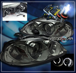 For 1999 2000 Honda Civic Halo Projector Headlight hid Smoke Cx Dx Ex Si 2 3 4dr