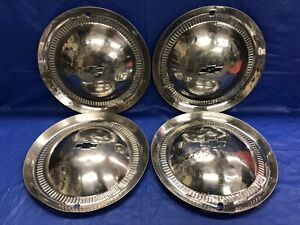 Vintage Set Of 4 1953 Chevrolet 15 Hubcaps Bel Air Nomad