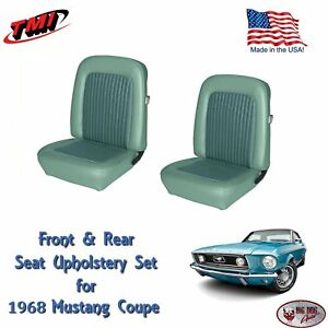 1968 Mustang Front Rear Seat Upholstery Turquoise Made By Tmi In Stock