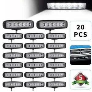 20x6inch 18w Led Work Light Bar Flood Beam Car Suv Off Road Driving Fog Lamp 4wd