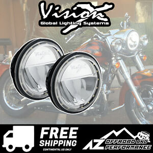 Vision X 4 5 Motorcycle Xmc Led Lighting Passing Lamp Kit 2104lm 10w 9904085