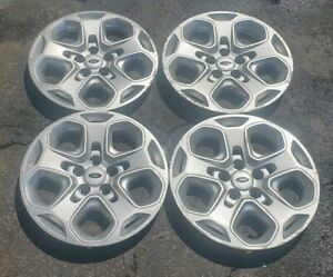 Set Of 4 Oem 2010 12 Ford Fusion Se 17 Bolt On Hubcap Wheel Covers Ae5c 1130 Ad
