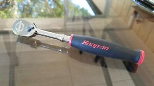 New Snap On 1 4 Dr Dual 80 Soft Grip Long Handle Ratchet thl72