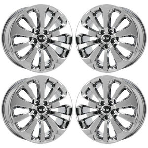 18 Kia Sorento Sportage Pvd Chrome Wheels Rims Factory Oem Set 74736