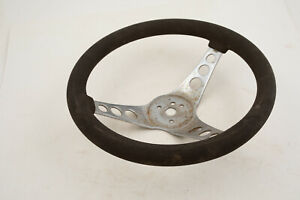 Superior The 500 Steering Wheel 12 Black Chrome W Rust Il2 Rat Rod Dune Bug