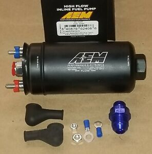 Aem 50 1005 Inline Fuel Pump High Pressure 90 Psig 380 Lph 10 An In 6 An Out