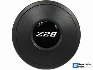 Vsw Standard S9 Black Horn Button With White Chevy Camaro Z28 Emblem