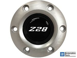 Volante S6 Brushed Horn Button White Chevy Camaro Z28 Emblem