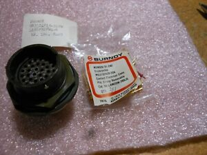 Burndy Connector W contacts Ms3124p18 32pw Nsn 5935 01 010 7617