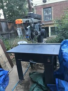 Radial Arm Saw Delta 16 34 Travel 230v 1 Ph New Table