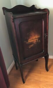 Antique Victorian Sheet Music Cabinet Handpainted From Late 1800s Early 1900s