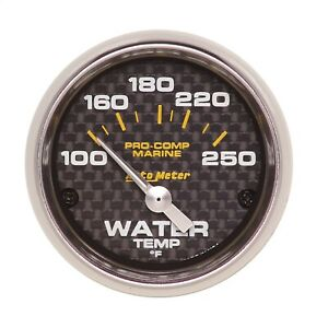 Autometer 200762 40 Marine Electric Water Temperature Gauge
