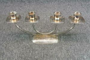 Silver Plated Candle Holder 4 Candles