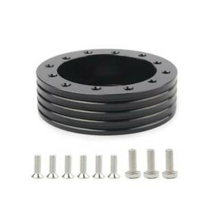 Black 1 Steering Wheel Hub Adapter Spacer For 6 Hole Fit Grant Apc 3 Hole