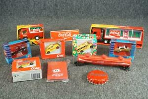 Set Of Coca-Cola Memorabilia Including Trucks Cars Bus And Train Part