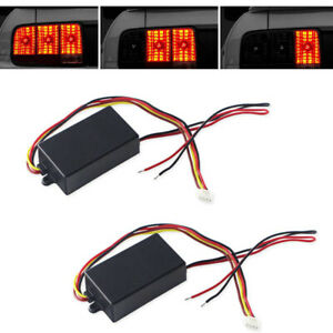Pair 3 step Sequential Flow Semi Dynamic Chase Flash Tail Light Module Boxes