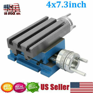 Compound Slide Milling Machine Work Table Cross Slide Bench Drill Vise Fixture