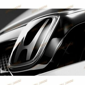 Jdm Black Front Emblem For 2006 2011 Civic Coupe 2dr Si Dx Ex 02 08 Accord
