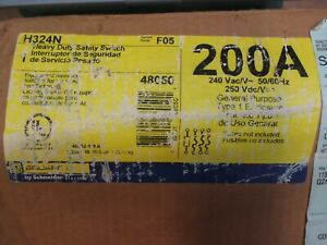 Square D H324n 200 Amp Safety Switch