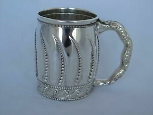 1880s Gorham Sterling Silver Incredible Large Child S Mug