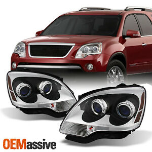 Fit 2007 2012 Gmc Acadia Headlights Lamps L r Replacement Gm2502294 Gm2503294