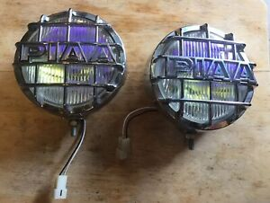 Piaa Chrome 6 Diameter Fog Lights With Guards Used In Working Condition