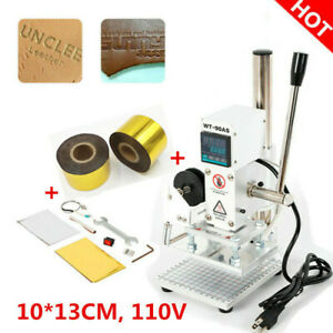 Digital Hot Foil Stamping Machine 10x13cm Leather Embossing With Gold Foil Paper