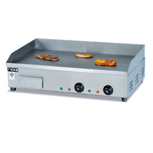 Electric Countertop Griddle 4400w Hot Plate Commercial Grill Bbq Steak Cooker