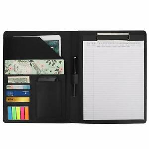 Moko A4 Leather Clipboard Folder Meeting Holders Business Portfolio Writing Pad