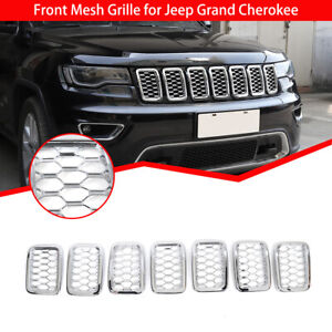 Front Grille Grill Mesh Insert Cover Trim Decor For Jeep Grand Cherokee 2017