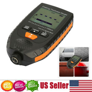 Lcd Digital Auto Car Paint Coating Thickness Tester Measuring Gauge Meter Gm998