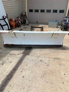 Used Blizzard 8500 Hd 8 5 Heavy Duty Straight Blade Snow Plow Power Hitch