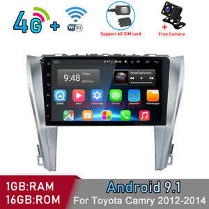 4g Android9 1 Car Wifi Dvd Gps Navi Radio Player For Toyota Camry 2012 2014