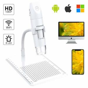 Moko Wifi Usb Digital Microscope 1080p Hd 2mp Camera 50x To 1000x Led Endoscope
