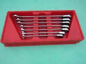 Snap On Soexr707 Sae Ratcheting Wrench Set 3 8 3 4 Soexr12 Soexr24 Used