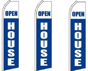 Open House white King Size Swooper Flag Pack Of 3 hardware Not Included