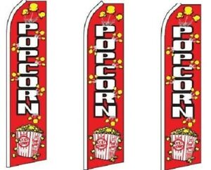 Popcorn King Size Swooper Flag Pack Of 3 hardware Not Included