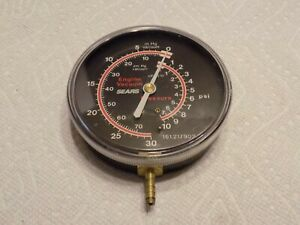 Vintage Sears Engine Vacuum Pressure Gauge