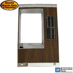 68 Camaro Shift Plate Correct Walnut Wood Manual Trans 4 Speed With Con