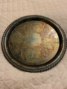 Vintage Wm Rogers 471 A863 12 25 Silverplate Tray Silver Tarnish