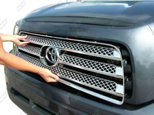 Fits 2007 2009 Toyota Tundra Chrome Grille Grill Insert Trim Molding