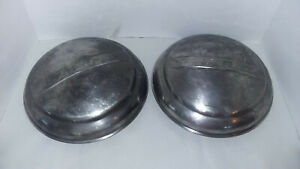 Vtg Ford Truck Hub Caps Domed moon dog Dish Pair Fits Year 48 55 Estage Find