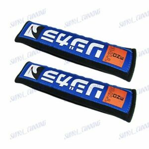 X2 Jdm Spoon Sports Type One Embroidery Seat Belt Cover Shoulder Strap Pads New